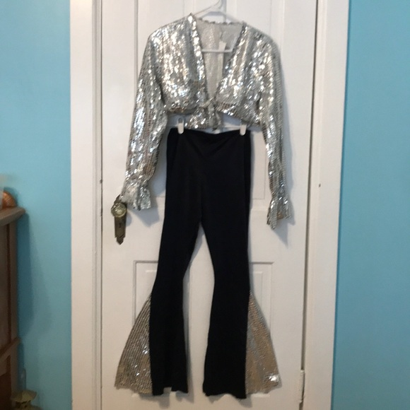 2 sets- 2 piece 70s style dance costumes